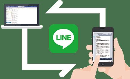 LINE連携イメージ図